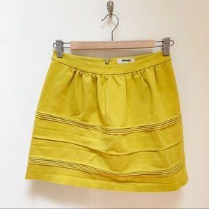 Madewell silhouette mini skirt mustard yellow S